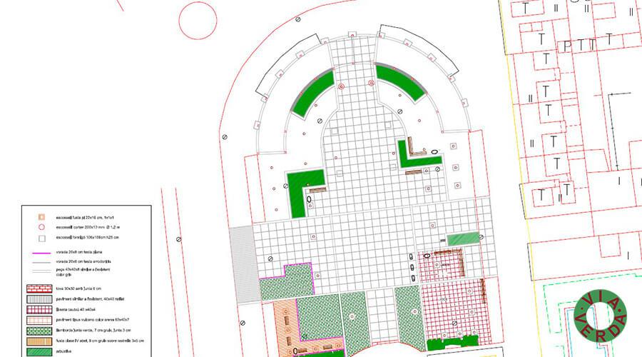 Ajuntament de Pals. Urbanització Plaça, jardineria, reg, drenatges