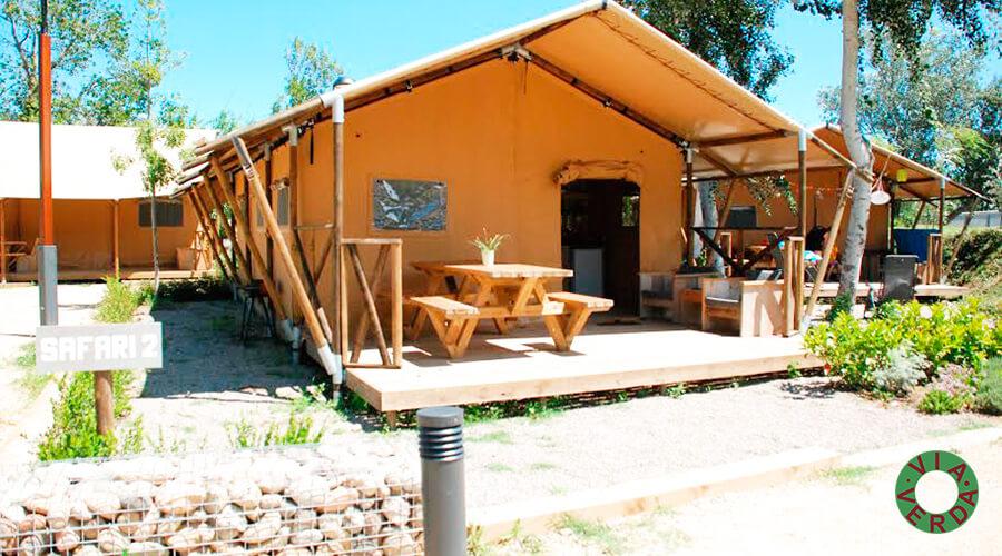 Camping Riu. Implantació tendes de luxe. Paisatgisme